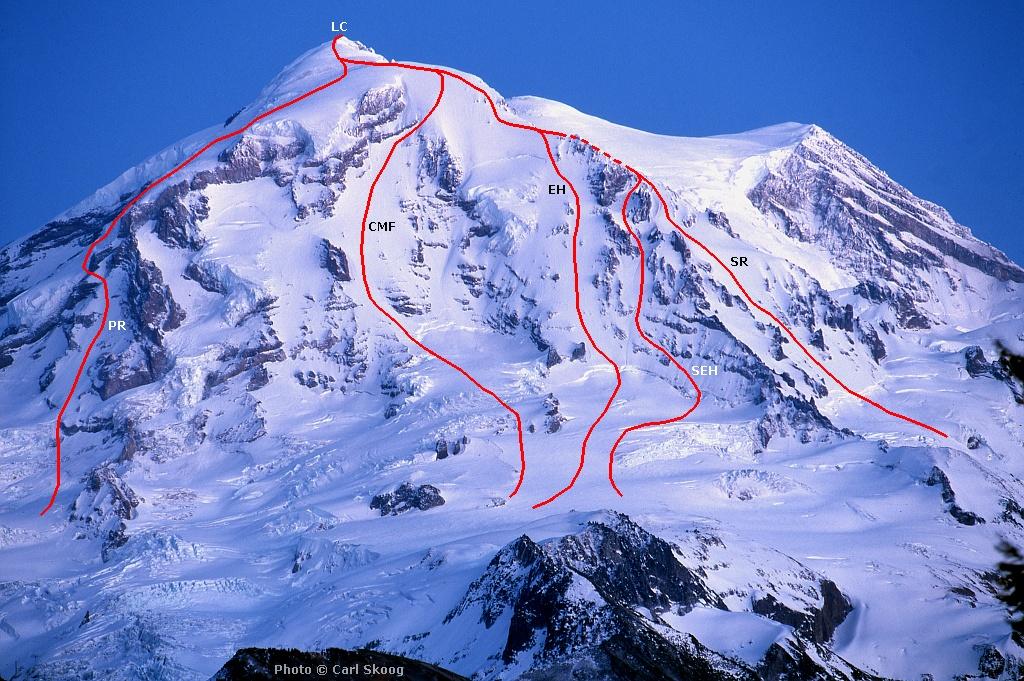 mt Rainier Routes Emmons Glacier mt Rainier nw Routes