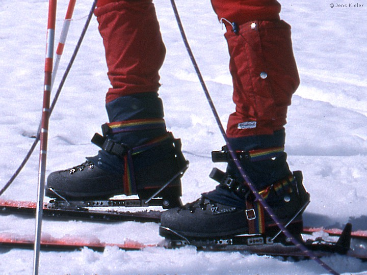 Skiing In Climbing Boots By Lowell Skoog