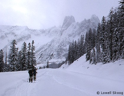 Skiing the North Cascades Highway - by Lowell Skoog